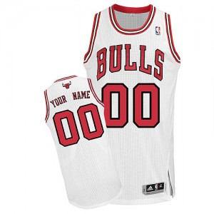 NBA Bulls White Customized Men Jersey