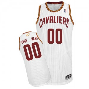 NBA Cavaliers White Customized Men Jersey