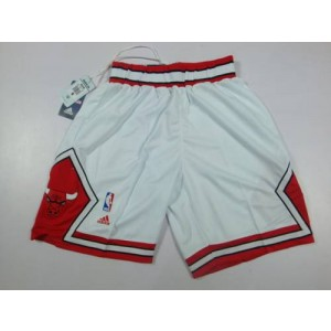 Chicago Bulls White Basketball Shorts