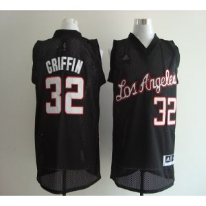 NBA Clippers 32 Blake Griffin Black Revolution 30 Men Jersey