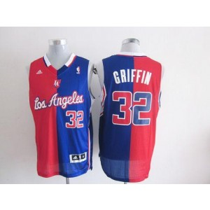 NBA Clippers 32 Blake Griffin Red Blue Split Men Jersey