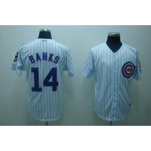 MLB Cubs 14 Ernie Banks White Men Jersey