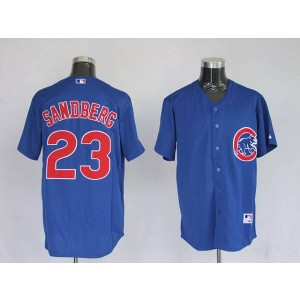 MLB Cubs 23 Ryne Sandberg Blue Men Jersey