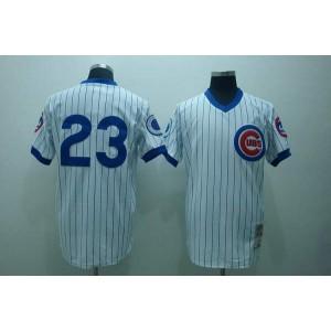 MLB Cubs 23 Ryne Sandberg White Men Jersey