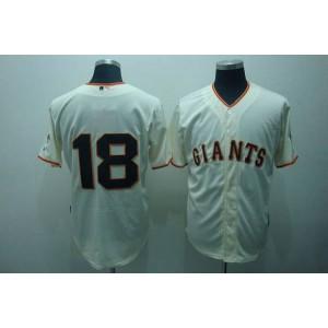 MLB Giants 18 Matt Cain Cream Men Jersey