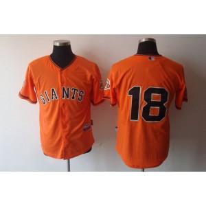 MLB Giants 18 Matt Cain Orange Men Jersey