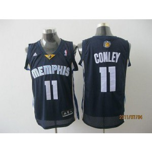 NBA Grizzlies 11 Michael Conley Dark Blue Revolution 30 Men Jersey