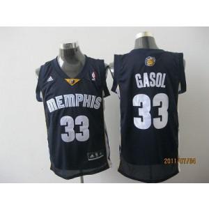 NBA Grizzlies 33 Marc Gasol Dark Blue Revolution 30 Men Jersey