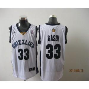 NBA Grizzlies 33 Marc Gasol White Revolution 30 Men Jersey