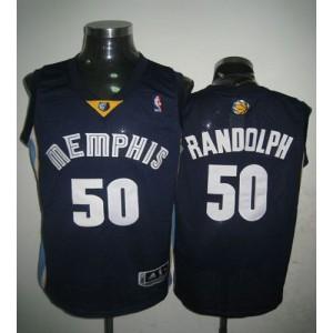 NBA Grizzlies 50 Zach Randolph Dark Blue Revolution 30 Men Jersey