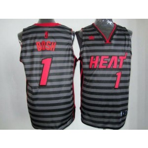 NBA Heat 1 Chris Bosh BlackGrey Groove Men Jersey