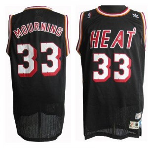 NBA Heat 33 Mourning Black Throwback Men Jersey