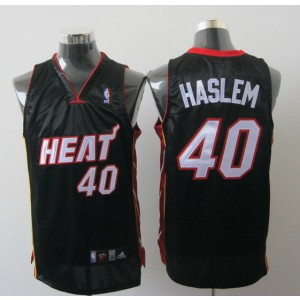 NBA Heat 40 Udonis Haslem Black Men Jersey