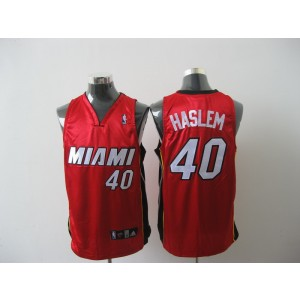 NBA Heat 40 Udonis Haslem Red Men Jersey