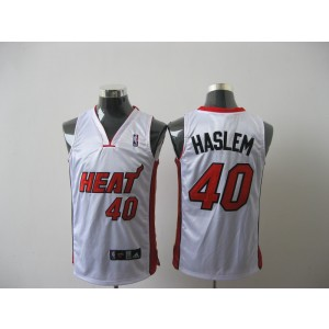 NBA Heat 40 Udonis Haslem White Men Jersey