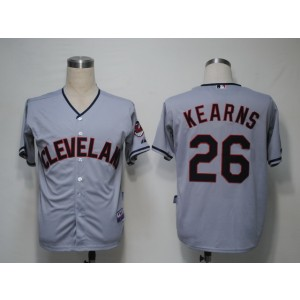 MLB Indians 26 Austin Kearns Grey Cool Base Men Jersey