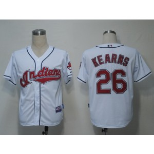 MLB Indians 26 Austin Kearns White Cool Base Men Jersey