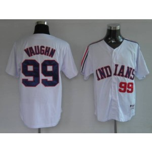 MLB Indians 99 Rick Vaughn Wild Thing White Men Jersey