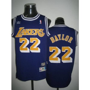NBA Lakers 22 Elgin Baylor Purple Throwback Men Jersey