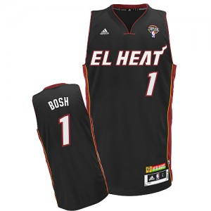 NBA Heat 1 Chris Bosh Latin Nights Black Men Jersey