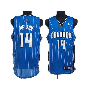 NBA Magic 14 Jameer Nelson Blue Men Jersey