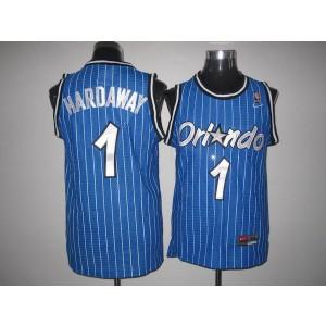 NBA Magic 1 Penny Hardaway Blue Throwback Men Jersey