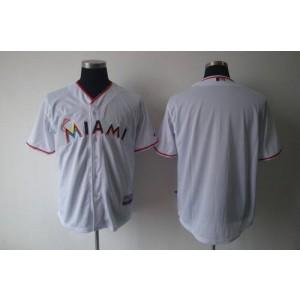 MLB Marlins Blank White 2012 Home Men Jersey
