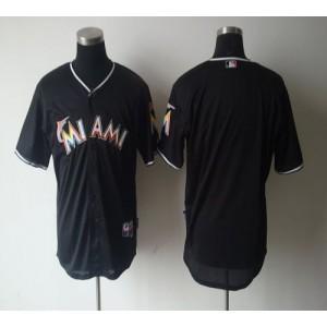 MLB Marlins Blank Black 2012 Men Jersey