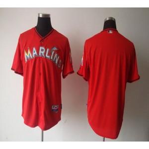 MLB Marlins Blank Red 2012 Men Jersey