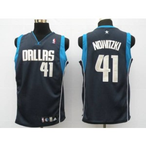 NBA Mavericks 41 Dirk Nowitzki Blue Men Jersey
