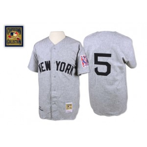 MLB Yankees 5 Joe DiMaggio Grey 1939 Mitchell and Ness Men Jersey