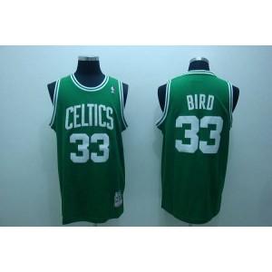 NBA Celtics 33 Larry Bird Green Throwback Men Jersey