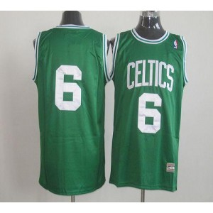 NBA Celtics 6 Bill Russell Green Throwback Men Jersey