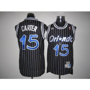 NBA Magic 15 Vince Carter Black Throwback Men Jersey