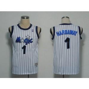 NBA Magic 1 Penny Hardaway White Men Jersey