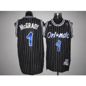 NBA Magic 1 Tracy Mcgrady Black Throwback Men Jersey