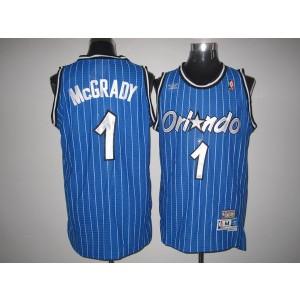 NBA Magic 1 Tracy Mcgrady Blue Throwback Men Jersey