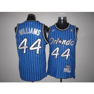 NBA Magic 44 Jason Williams Blue Throwback Men Jersey