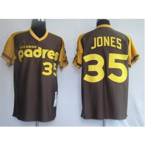 MLB Padres 35 Randy Jones Brown Mitchell and Ness Throwback Men Jersey