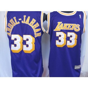 NBA Lakers 33 Abdul-Jabaar Purple Throwback Men Jersey