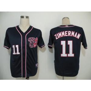 MLB Nationals 11 Ryan Zimmerman Navy Blue Cool Base Men Jersey