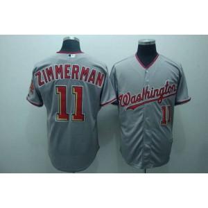 MLB Nationals 11 Zimmerman Ryan Grey Men Jersey