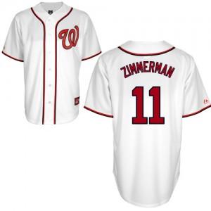 MLB Nationals 11 Zimmerman Ryan White Men Jersey