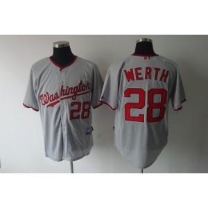 MLB Nationals 28 Jayson Werth Grey Men Jersey