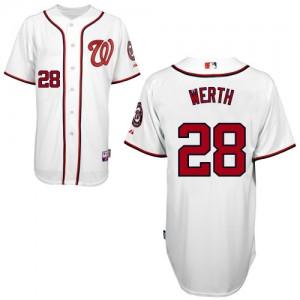 MLB Nationals 28 Jayson Werth White Men Jersey