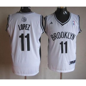 NBA Nets 11 Brook Lopez White Home Men Jersey
