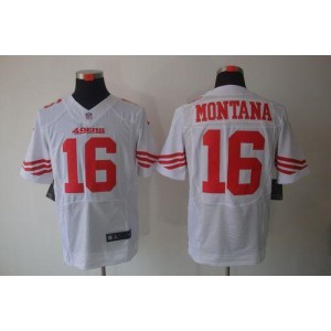 Nike San Francisco 49ers No.16 Joe Montana White Elite Jersey