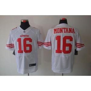 Nike San Francisco 49ers No.16 Joe Montana White Elite Jersey