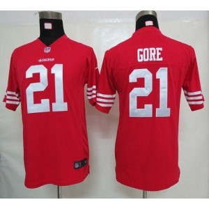 Youth Nike San Francisco 49ers 21 Frank Gore Red NFL Elite Jersey