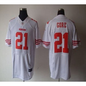 Nike San Francisco 49ers No.21 Frank Gore White Elite Jersey